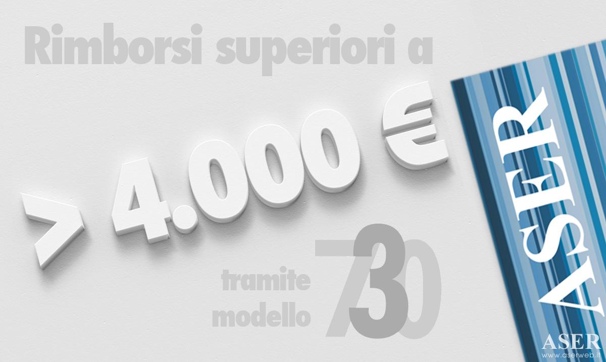 modello 730: rimborsi più lenti oltre i 4000 euro