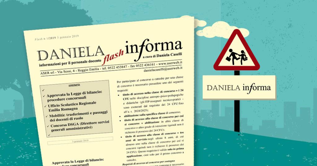 Newsletter informativo per docenti scuola: Daniela Informa Flash