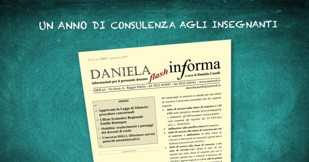 Un anno di consulenza agli insegnati: bollettino + assistenza Daniela Informa