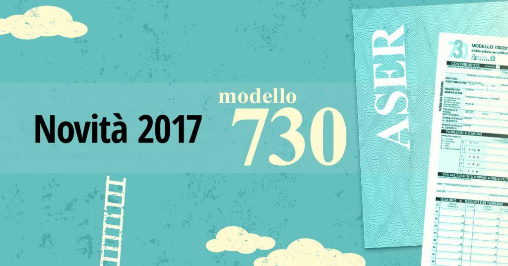Novit 730 redditi 2017 aser caf cndl for Scadenza modello 730 anno 2017